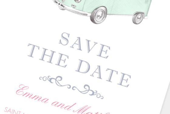 Save the date kort bryllup anledningskort